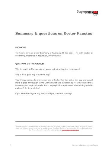 essay questions on doctor faustus