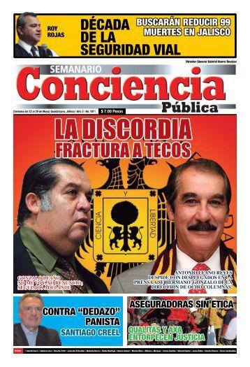 FRACTURA A TECOS - Semanario Conciencia Pública