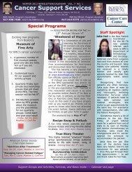 Cancer Support Services Newsletter - Boston Medical Center