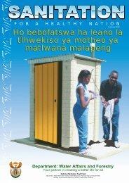 Ho bebofatswa ha leano la tlhwekiso ya motheo ... - DWA Home Page