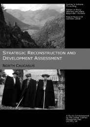 Strategic Reconstruction And Development Assessment (SRDA) North