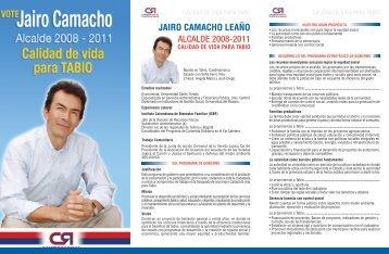 JAIRO CAMACHO LEAÑO ALCALDE 2008-2011 - Tabio