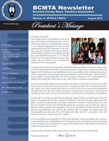 August 2012 - Broward County Music Teachers Association