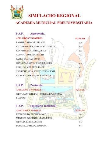 SIMULACRO REGIONAL