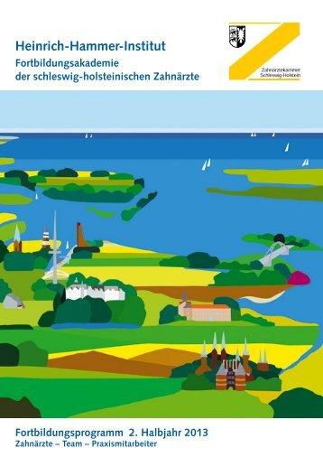 2. Halbjahr 2013 - Zahnärztekammer Schleswig-Holstein