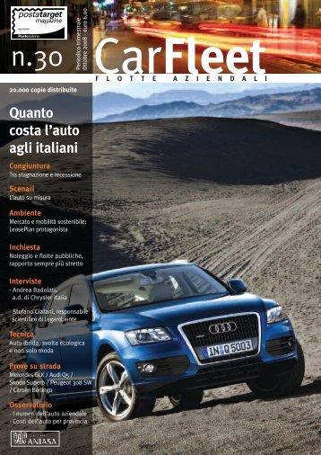 Quanto costa l'auto agli italiani - LeasePlan