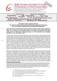 ELDH European Association of Lawyers for Democracy & World ...
