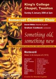 a4 poster.p65 - Somerset Chamber Choir