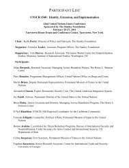 FINAL Participant List - The Stimson Center