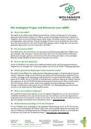 Die wichtigsten Fragen und Antworten zum eANV. - WOLFANGER ...