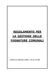 Regolamento di Fognatura del Comune di Duino-Aurisina/Devin ...
