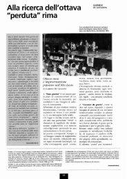 Alla ricerca dell'ottava - Biblioteca consorziale di Viterbo
