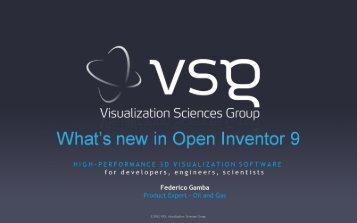 What's new in Open Inventor 9 - Ocean