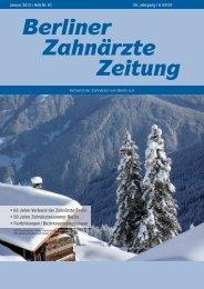 BZZ_2013_01 - Verband der Zahnärzte von Berlin