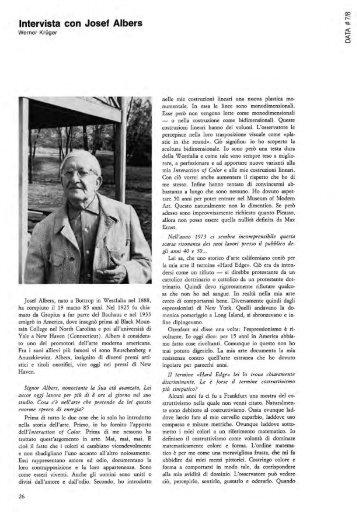 Intervista con Josef Albers - artslab.com