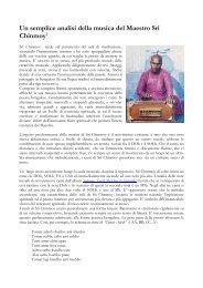 Una semplice analisi della musica di Sri Chinmoy - Centri di ...