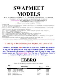 Ebbro model diecast cars - Swapmeetmodels.co.uk