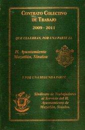 Contrato Colectivo De Trabajo Sindicato-Municipio De Mazatlan