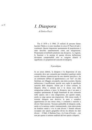 I. Diaspora - enrico pozzi