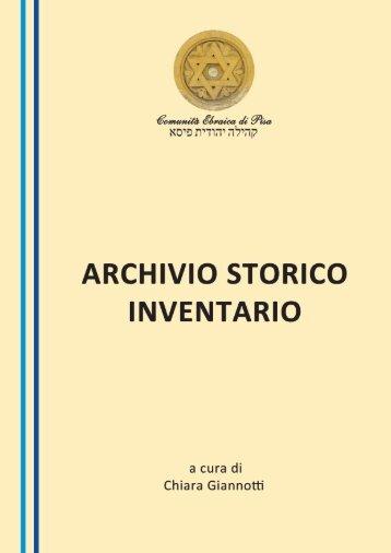 INVENTARIO ARCHIVIO STORICO (ASCEPi) - Comunità Ebraica di ...