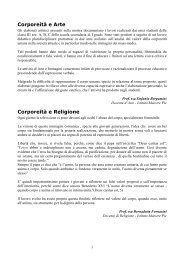 Corporeità e Arte Corporeità e Religione - Scuole Maestre Pie