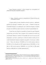 Estudo sobre Seguro obrigatório automóvel - Supremo Tribunal de ...