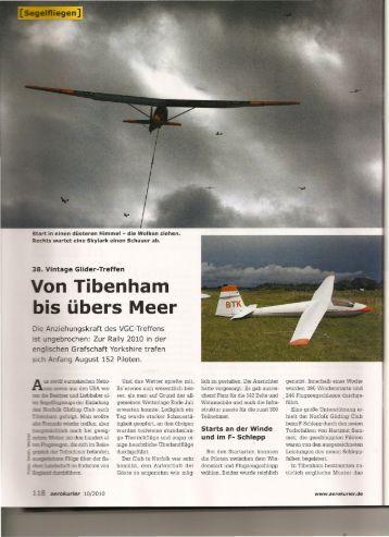 on Tibenham is übers Meer - Vintage Glider Club