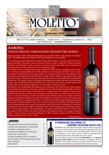 Read the newsletter - WineCountry.it, Italian Wine Regions