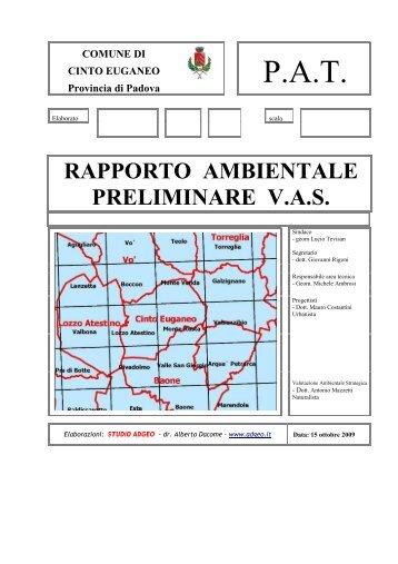 P.A.T. - Provincia di Padova
