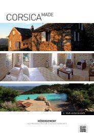 Brochure hébergement - Agence du Tourisme de la Corse
