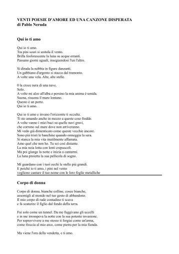 venti poesie d'amore ed una canzone disperata - Pablo Neruda