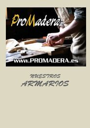 Catalogo armarios promadera.