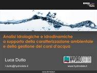 Analisi idrologiche e idrodinamiche a supporto della ... - DHI Italia