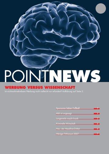 WERBUNG VERSUS WISSENSCHAFT - Point Werbeagentur