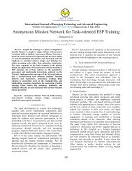 Anonymous Mission Network for Task-oriented ESP Training - IJETAE