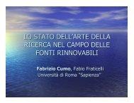lo stato dell'arte della ricerca nel campo delle ... - Provincia di Pisa