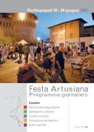 Programma della Festa 2007 - Pellegrino Artusi