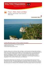 Friaul – Wein, Karst und Meer - Weltweitwandern