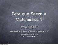 A Matemática no Quotidiano - Universidade Popular do Porto