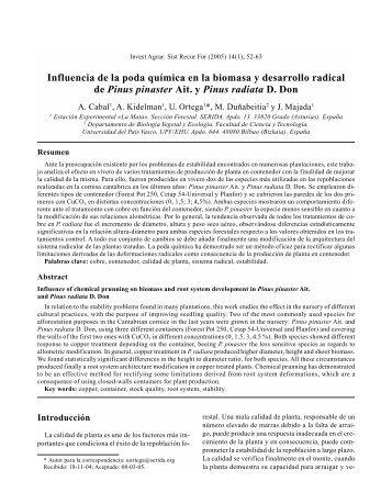 Influencia de la poda química en la biomasa y desarrollo ... - Inia