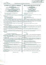 Lois sur statuts des terres - Ministère de l'Agriculture