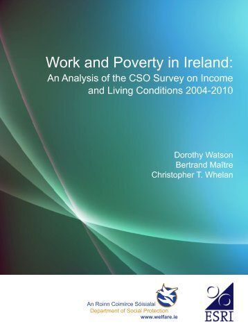 Work and Poverty in Ireland: an Analysis of the CSO Survey on ...