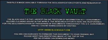 Project Chatter - U.S. Navy Human Drug Test ... - The Black Vault