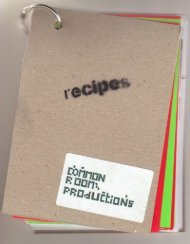 Make your own recipe book - Common Room Productions
