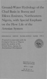 Ground-Water Hydrology of the Chad Basin in Bornu and Dikwa ...