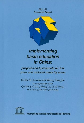 Implementing basic education in China - Keith Lewin's website