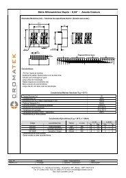 """Série Alfanumérico Duplo – 0,54"""" – Anodo Comum - Cromatek"""