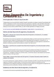 Anteo Desarrollos De Ingenieria y Consultoria SL ... - datocapital.com