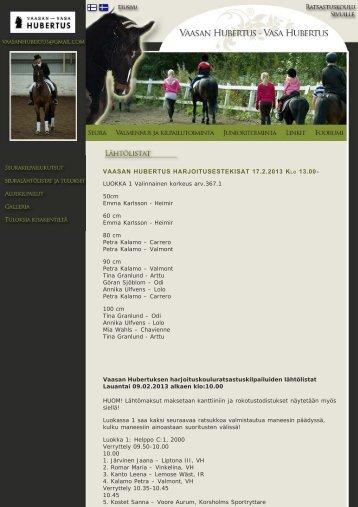 Tulokset → 2013-02-09 - Vasa Hubertus