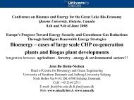 Bioenergy – cases of large scale CHP c plants and Biogas plant ...